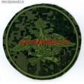 Камуфлированный шеврон с эмблемой войск ПВО